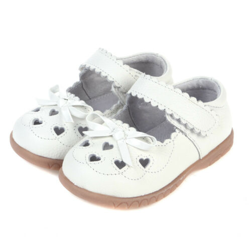 Real Leather girls Sweetheart shoes white 1-4yr baby toddler kids child walkers