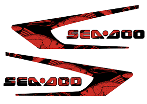 GRAPHIC REPLACEMENT KIT DECAL SPORTSTER SEA DOO SPEEDSTER 150 RED graffiti
