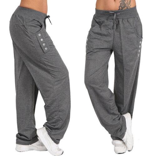 Gf Moda donna Plus Size Boyfriend Pantaloni larghi Pantaloni casual Pantaloni S