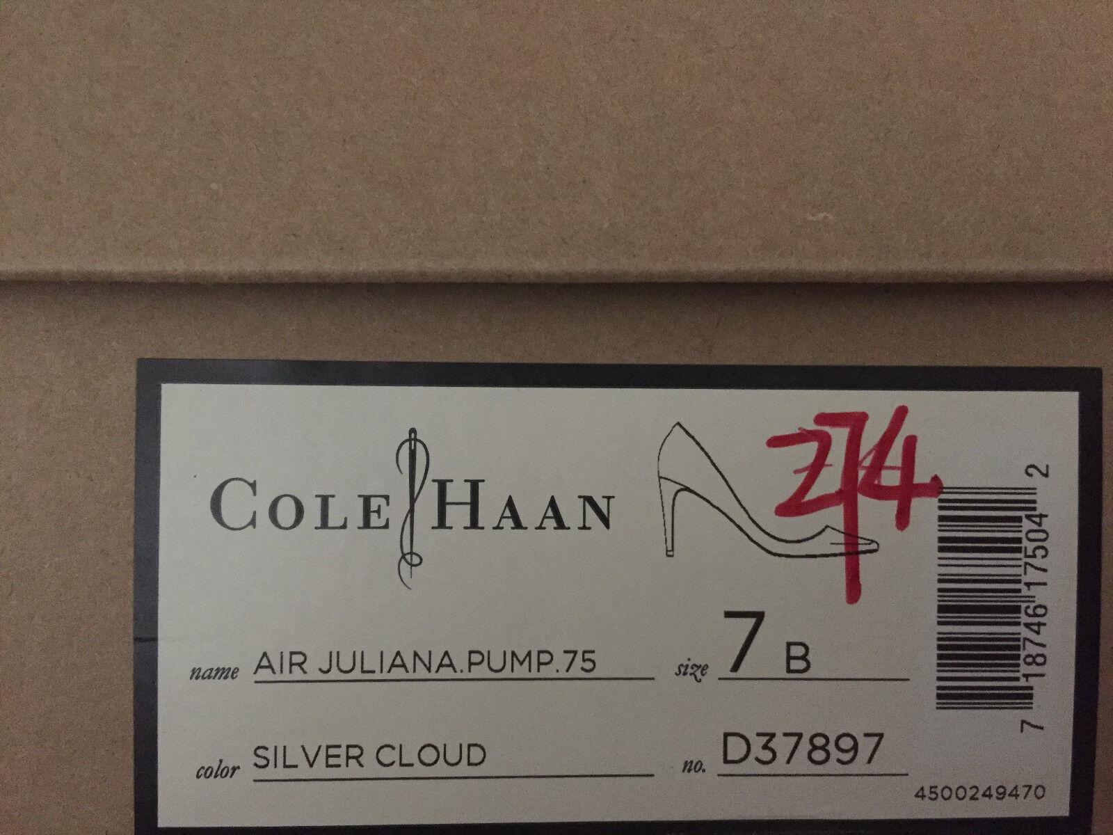 NIB Cole Haan Air Juliana 75 PUMP PUMP PUMP 6 7 Silber CLOUD POINTED TOE 239b08