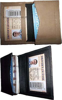 2 Uomo Donna Pelle Business Credito Id Scheda Custodia Fifty Porta Carte Bnwt Prestazioni Affidabili