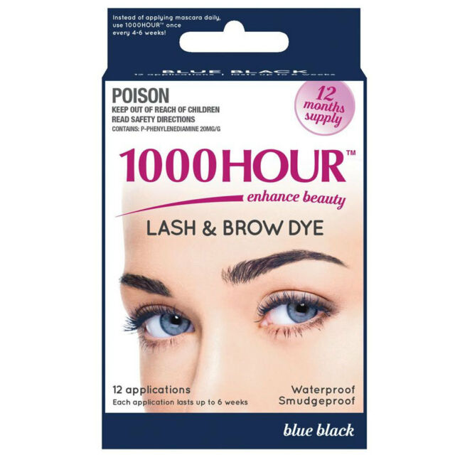 1000 HOUR LASH AND BROW DYE 12 APPLICATIONS BLUE BLACK 12 MONTHS SUPPLY
