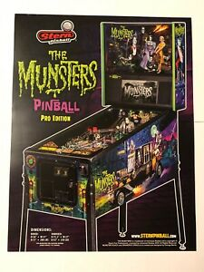Details about The Munsters Pro Stern Pinball Game Flyer Brochure Ad
