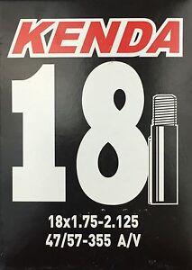 Chambre-a-air-velo-KENDA-18-pouces-avec-la-voiture-valve