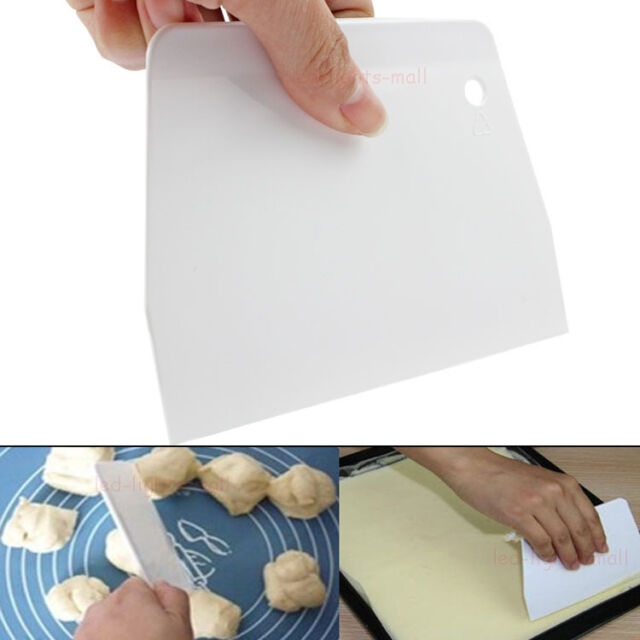 HOT 1pcs Cake Plain Edge Scraper Decorating Cutter Smoother Smoothing Tools #TC