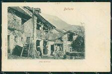 Belluno città Casa Rustica cartolina QT1130