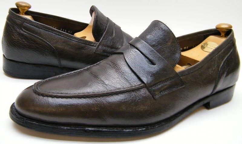 Herren JOHNSTON MURPHY DARK LOAFER GREY GRAY LEATHER PENNY LOAFER DARK DRESS Schuhe SZ 11.51/2 a9c859