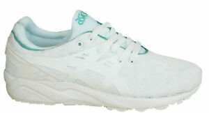 Asics Gel-Kayano Trainers Evo Womens Shoes Lace Up Textile White H7Q6N 0101 B12E