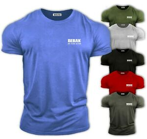 Mens-Gym-T-Shirt-Bodybuilding-Top-Workout-Clothing-BEBAK-Training-GYM-Clothing