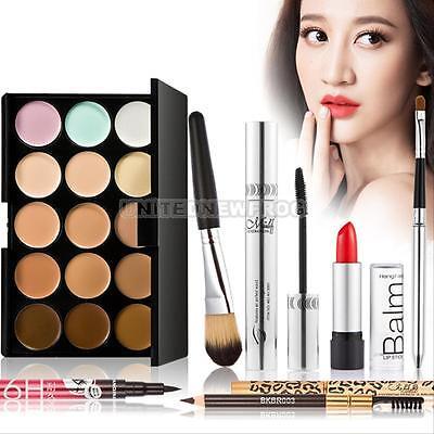 Professional 15 Color Palette Makeup Set Eyeshadow Eyebrow Eyeliner Powder Kits