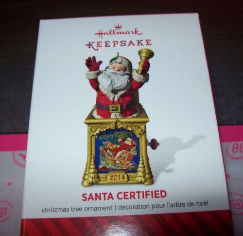 2014 HALLMARK KEEPSAKE CHRISTMAS TREE ORNAMENTS SANTA CERTIFIED NEW IN BOX