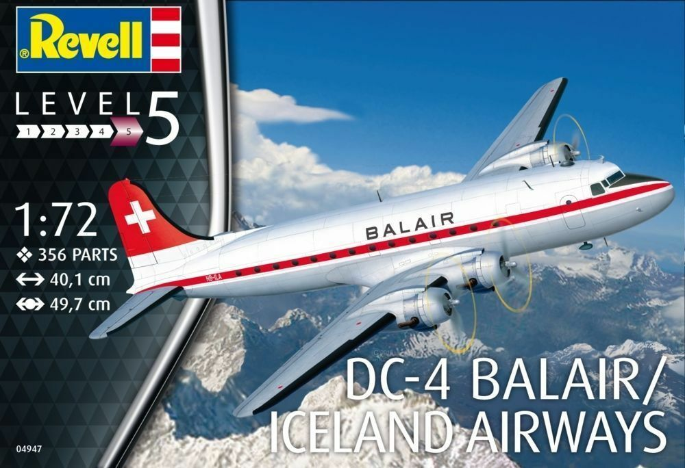 Revell RV04947 1 72 - DC-4 Balair and Iceland Airways