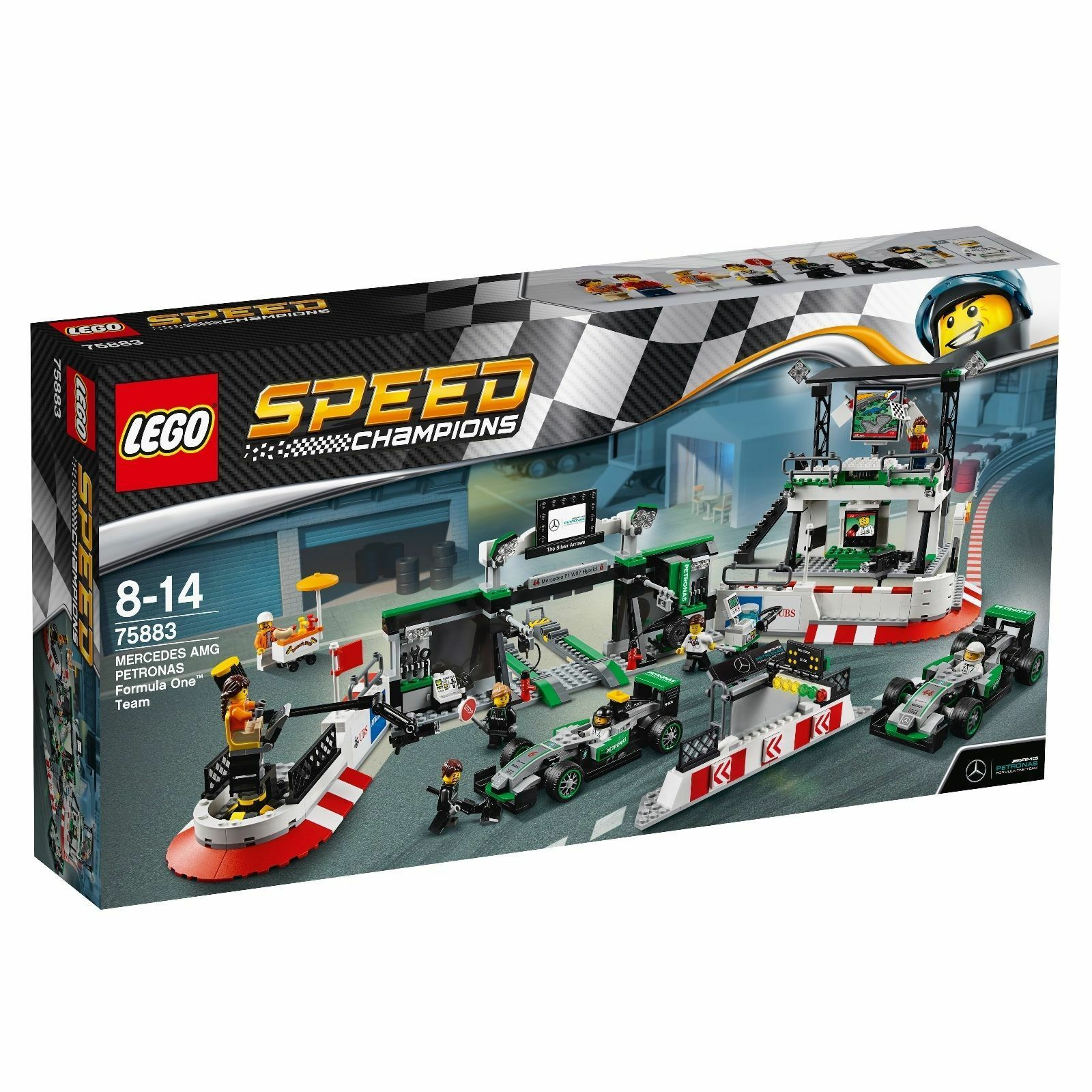 LEGO® Speed Champions 75883 MERCEDES AMG PETRONAS Formula One™ Team NEU & OVP