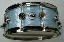 "DW 14x6"" Pale Blue Qyster Finish Ply USA Snare Drum / Tambores Caisse Claire"