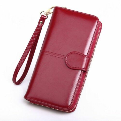Women Leather Wallet For Credit Card Coin Purses Luxury Long Clutch Zipper Pouch