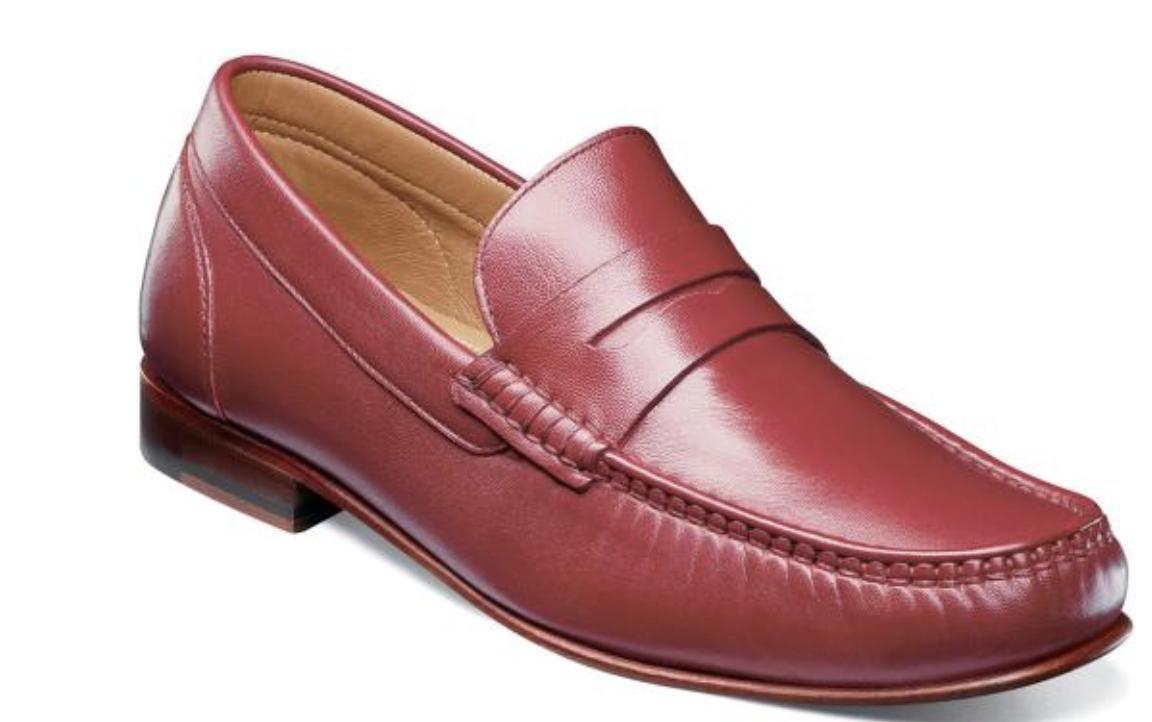 Florsheim Men's shoes Beaufort Moc Toe Penny Loafer Red 11869-600