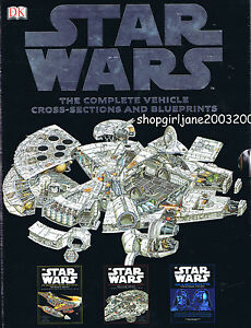 Star wars complete vehicle cross sections and blueprints ebay image is loading star wars complete vehicle cross sections and blueprints malvernweather Gallery