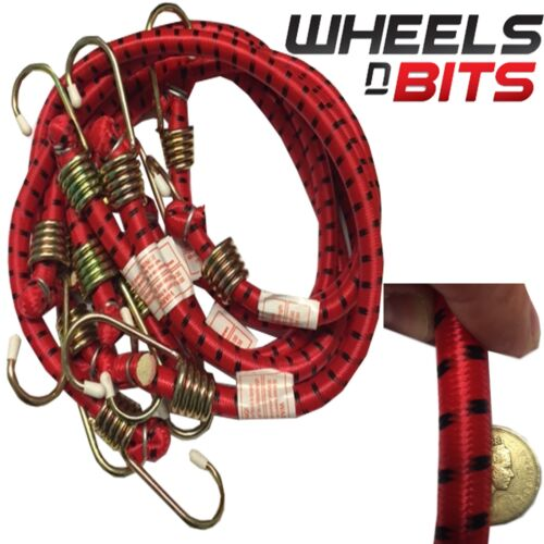 """24/"""" 6pc Extra Heavy Duty Bungee Cord Set Hook Straps Luggage Car Caravan Camping"""