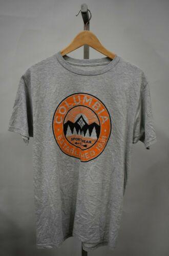 COLUMBIA SPORTSWEAR Men/'s Grey Graphic T-Shirt