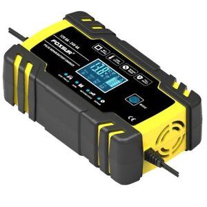 Details about 8 Amp Motorcycle Intelligent Car Battery Charger Pulse Repair Starter 12V24V