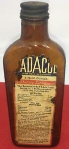 ANTIQUE-HADACOL-BOTTLE-GLASS-QUACK-MEDICINE-APOTHECARY-AMBER-VINTAGE-SUPPLEMENT