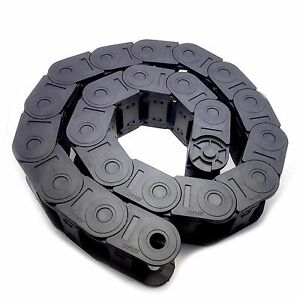 US Stock 1M 1000mm Black Long Nylon Cable Drag Chain Wire Carrier 25 x 38mm