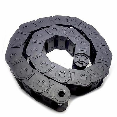 US Stock 1M 1000mm Black Long Nylon Cable Drag Chain Wire Carrier 15 x 30mm