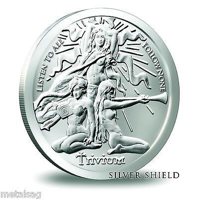 2015 1OZ Aware /& Prepared Silver Shield *In-Hand* SBSS .999 Pure Iconic Art Gem