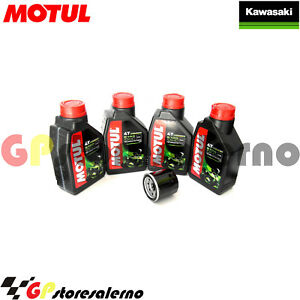 TAGLIANDO-OLIO-FILTRO-MOTUL-5100-10W40-KAWASAKI-636-ZX-2004