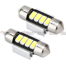 2X coche cúpula Interior Festoon Blanco Bombillas Lámpara 31mm 4SMD 5630 5730 LED 12V
