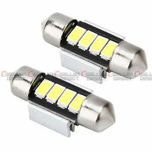 2X-White-Car-Interior-Festoon-Dome-Light-Bulbs-Lamp-31mm-4SMD-5630-5730-LED-12V