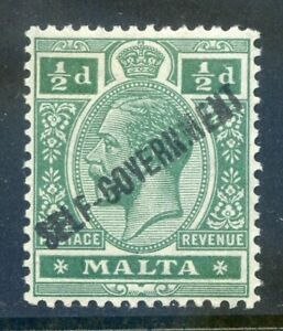 Malta-1922-Self-Government-d-green-Crown-CA-wmk-inverted-mint-2019-06-05-03