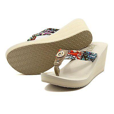 Women Summer Wedge Platform Thong Flip Flops Sandals Shoes Beach Casual Slippers