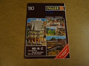 FALLER-CATALOGUE-039-80-PRIX-DE-VENTE-CATALOGUS-1980-PRIJSLIJST