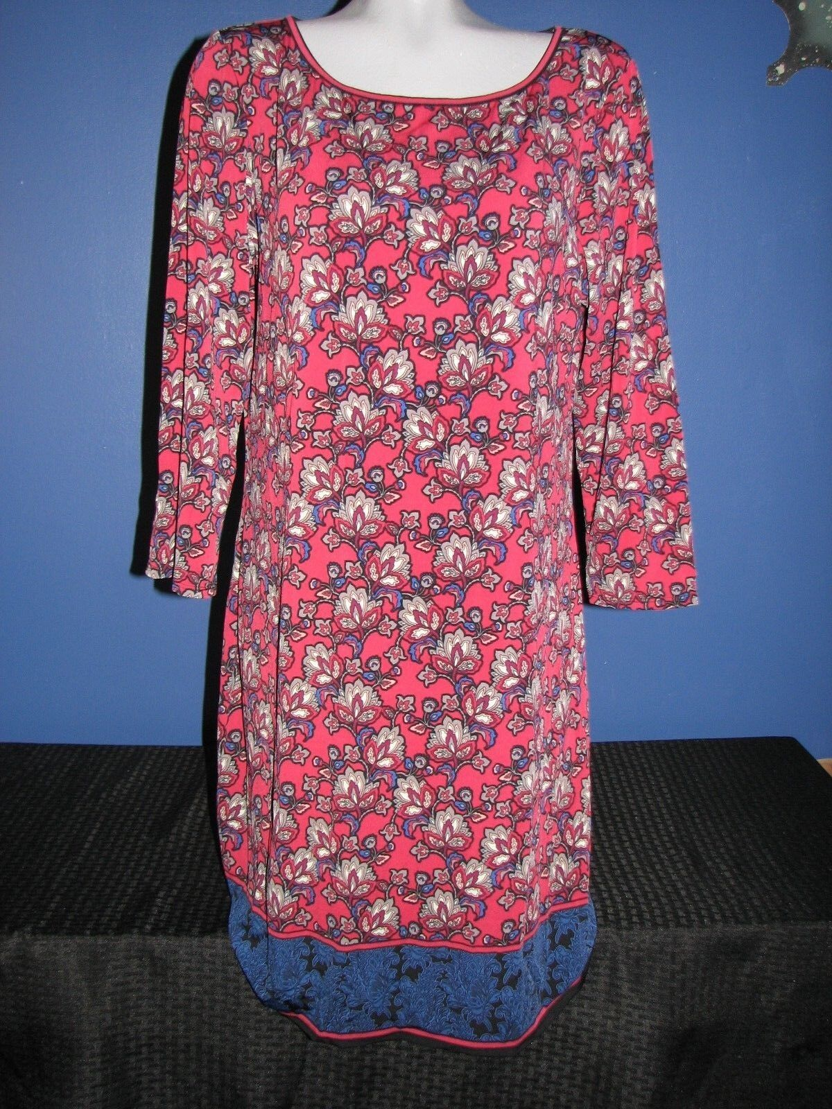 Max Studio Women's Red Floral Dress Size XL Extra Large NEW