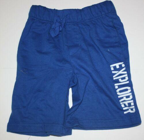 New Gymboree Boys Blue Knit Pull On Shorts 4 5 7 8 Year NWT Explorer
