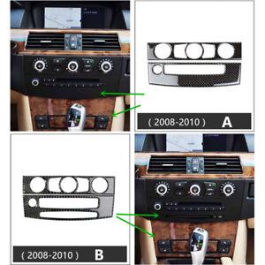 Carbon Fiber Car Air Conditioner CD Panel Decorative Trim