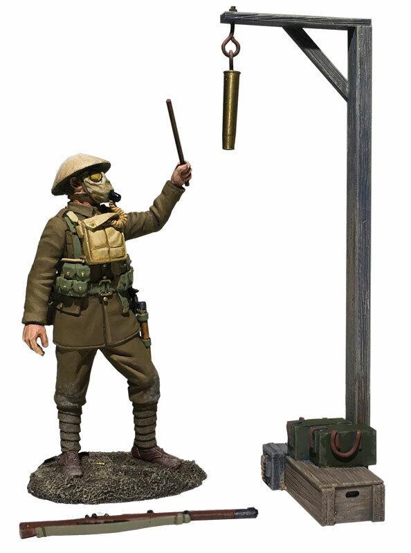 Britains Guerra Mondiale 1 23115 1917-1918 British SUONO Gas Attack Allarme MIB