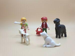♥Playmobil♥ Tiere 2x Ziege Ziegenbock mit Zieglein weiß für Bauernhof