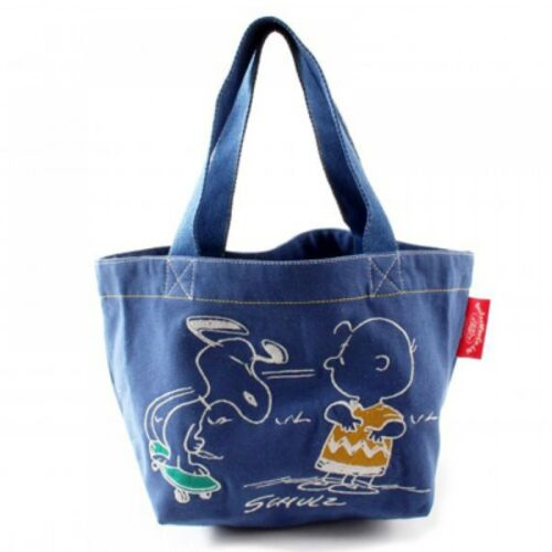 New Snoopy lunch tote bag Navy Color skate//natural Peanuts f//s from Japan