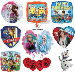 Disney-amp-Kids-TV-Character-Party-Birthday-Celebration-Latex-amp-Foil-Balloons-New