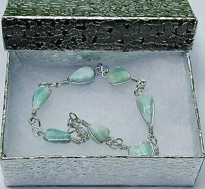 Natural-Ocean-Blue-Dominican-Larimar-gemstone-crystal-Bracelet