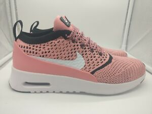 Details about Nike Womens Air Max Thea Ultra Flyknit UK 9 Bright Melon White Black 881175 800