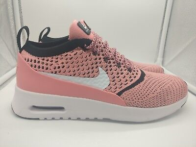 69180f886e2d Nike Womens Air Max Thea Ultra Flyknit UK 9 Bright Melon White Black  881175-800