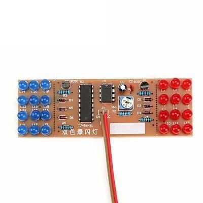 Detonation Flashing Light DIY Kit for Red Blue LED Dual-Color NEW