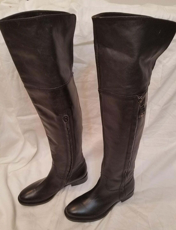 Nuevo Geox Respira Negro Cuero A La La La Rodilla Muslo Hi Mujeres botas De Montar 35 EE. UU. 5  precios mas bajos