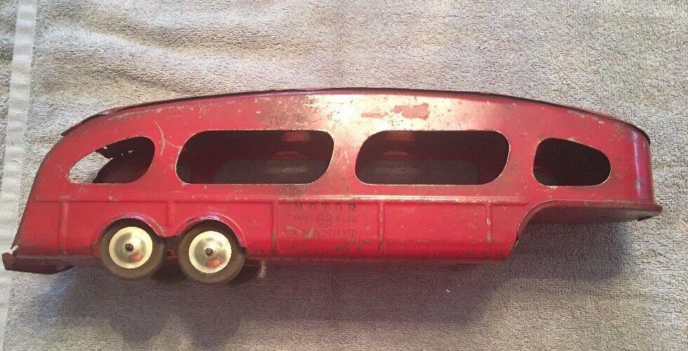 Début des années 1940 Marx Moteur Transit Voiture Transporteur Pressed Steel