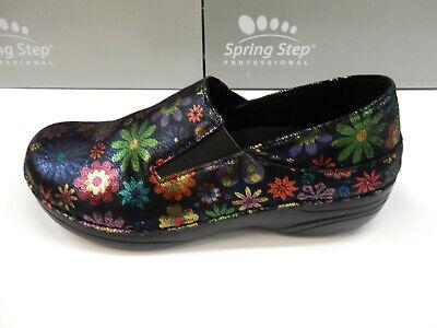 Black Spring Step Professional Womens Manila-FLPWR Uniform Dress Shoe 7 Wide US