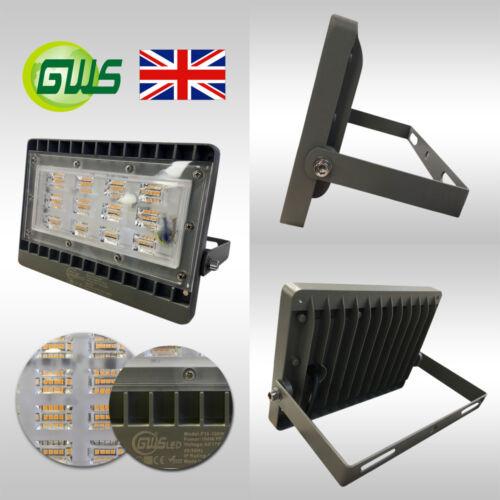LED Flood Light 50W 100W Compact Ultra Slim Outdoor Security Light IP65 UK Lamp