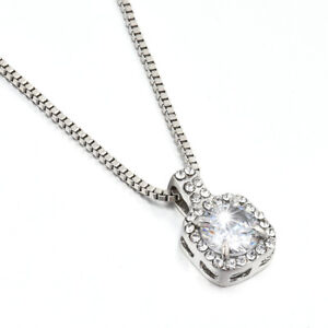 Stunning-Crystal-Square-Pendant-Statement-Clavicle-Chain-Necklace-Jewelry-Gift